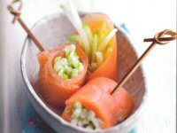 Apple and Smoked Salmon Rolls