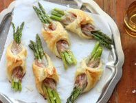Asparagus, Pancetta and Puff Pastry Parcels