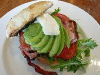Bacon and Avocado Toasted Sandwich