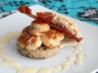 Bacon and King Scallop Open Sandwich