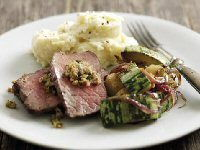 Beef Mini Roast with Walnut and Parsley Pesto