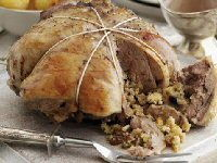 Boneless Cushion of Lamb with Festive Stuffing Recipe