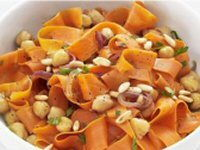 Carrots with Pine Nuts and Chickpeas