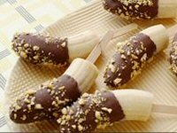 Chocolate-coated Banana Pops Recipe