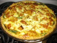 Curried Cod Quiche