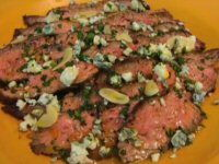 Flank Steak With Cabrales Cheese