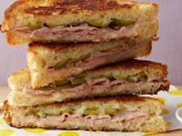 Ham & Swiss Cheese Garlic-Enhanced Sandwich