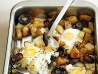 Healthy Egg, Chips & Mushrooms
