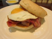 Hot Bacon and Egg Sandwich