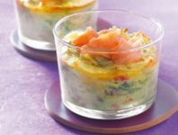 Leek and Smoked Salmon Flan