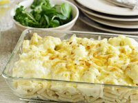 Macaroni and Cauliflower Cheese