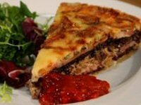 Manx Tart with Black Pudding, Onion and Bacon Recipe
