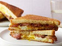 Maple Grilled Bacon, Egg and Cheese Sandwich