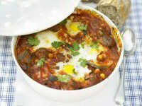 Moroccan Lamb Balls with Eggs
