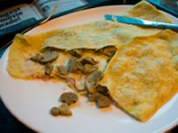 Mushroom and Garlic Pancakes (Crêpes)