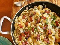 Pasta, Sausage and Bacon Salad