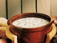 Potato Soup with Chives and Soured Cream