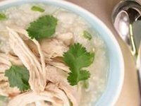 Rice Soup with Chicken and Ginger