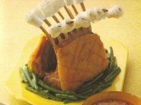Roast Lamb Guard of Honour with Peppercorn Sauce Recipe
