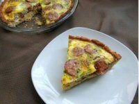 Sausage and Bacon Flan