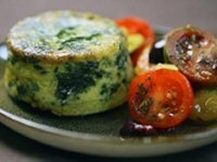 Spinach and Feta Rounds with Greek Tomato Salad