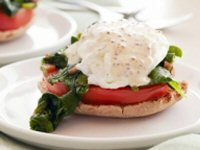Spinach and Tomato Eggs Benedict