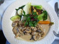 Veal and Creamed Mushrooms