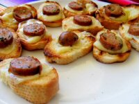 Mini Sausage and Cheese Toasties